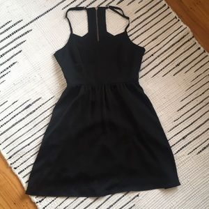 Flirty black party dress
